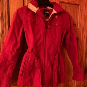 North Face Rain Coat with Tie women's small